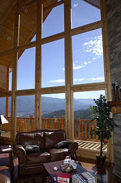 Huge Walls of Glass looking onto the mountain views